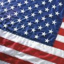 This 10'x15' nylon U.S. flag comes with extra heavy, white polyester canvas heading with nylon rope and galvanized thimbles for added strength. To ensure stability and durability a brass grommet is used in addition to the rope on the headings. This flag has sewn stripes and embroidered stars. Flag is 100% made in the U.S.A.