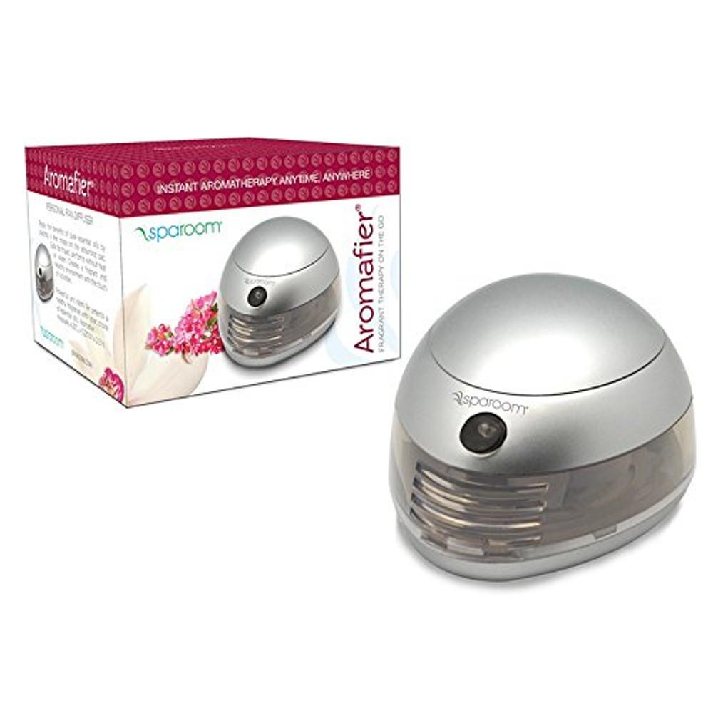 Silver Sparoom Aromafier personal fan diffuser