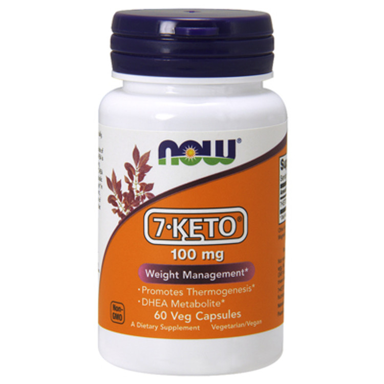 7-Keto®, 100 mg (60 Vcaps®) - NOW Foods