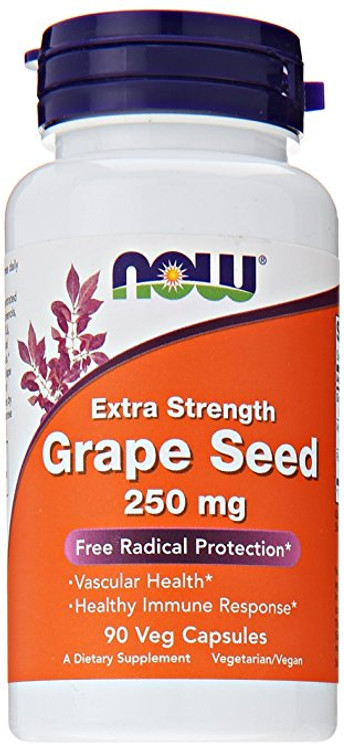 Grape Seed 250 mg, (90 Vcaps®) - NOW Foods