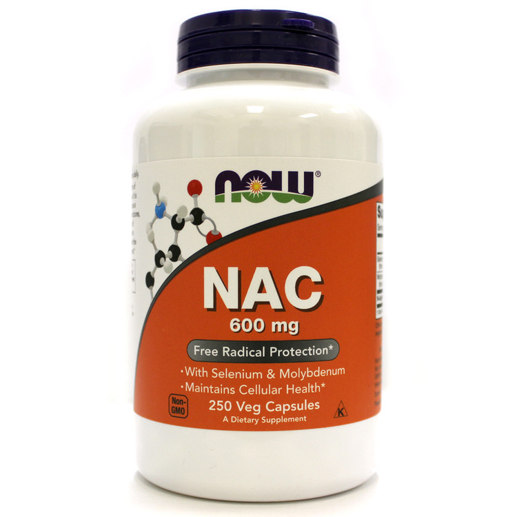 NAC, 600 mg (250 Vcaps®) - NOW Foods