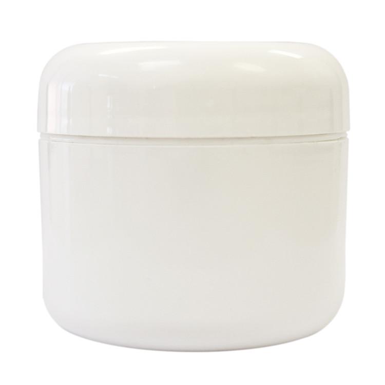 2 oz White Plastic Jar w/ Dome Lid