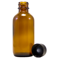 2 fl oz Amber Glass Bottle w/ Phenolic Cap