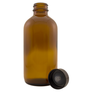 8 fl oz Amber Glass Bottle w/ Phenolic Cap