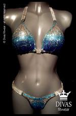 Bikini Division  'Ombre' - aqua