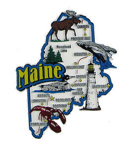 USA map state magnet - ME