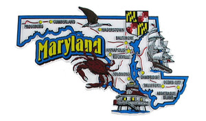 USA map state magnet - MD