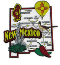 USA map state magnet - NM