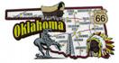 USA map state magnet - OK