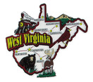 USA map state magnet - WV
