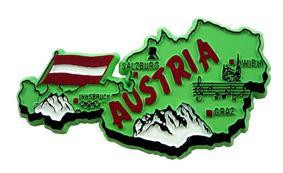 Austria country shaped magnetic map