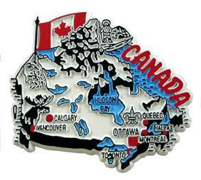 Canada country shaped magnetic map