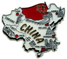 China country shaped magnetic map