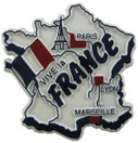 France country shaped magnetic map