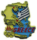 Greece country shaped magnetic map