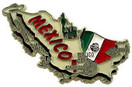 Mexico country shaped magnetic map