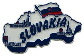 Slovakia country shaped magnetic map