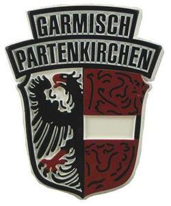Garmisch-Partenkirchen Crest, Europe souvenir magnet