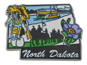 Souvenir state magnet – North Dakota