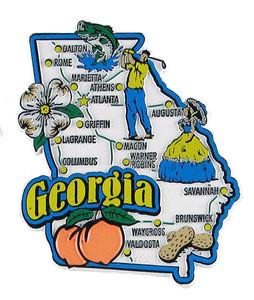USA map state magnet - GA