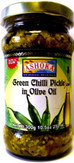 Ashoka Green Chilli Pickle In Olive Oil 10.5Oz