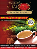 Chai Gold Instant Masala Tea (Unsweetened) 4.9Oz