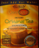 Chai Gold Original Tea (Unsweetened) 4.9 oz