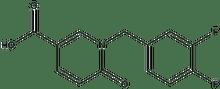 1-(3,4-difluorobenzyl)-6-oxo-1,6-dihydro-3-pyridinecarboxylic acid 500 mg