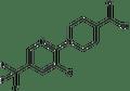 1-[3-chloro-5-(trifluoromethyl)-2-pyridinyl]-4-piperidinecarboxylic acid 500 mg