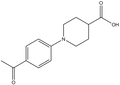 1-(4-acetylphenyl)-4-piperidinecarboxylic acid 500 mg