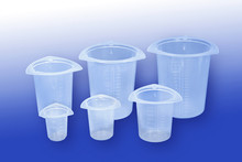 Tricornered Plastic Beakers