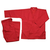12oz HEAVY Weights KARATE MARTIAL ARTS UNIFORM GI Red