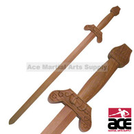 This is the Light Wooden Jian Sword, also known as a Tai Chi Sword. Perfect for practice, display, and plays. The Sword has been constructed of close fitting pieces. The sword is extremely light and capable of bring swung with impressive speed