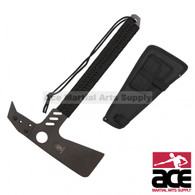 "22"" Functional Hunting Axe Combo Tools with Sheath Nylon Cord Wrapped"