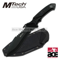 "10"" MTECH TACTICAL FULL TANG COMBAT HUNTING KNIFE Survival Fixed Blade"
