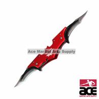 WarTech USA Batman Knife with Dual Assist Open Blades-Red