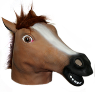 Horse Head Mask Creepy Halloween Costume