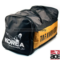 "Pine Tree Sangmoosa Large ""Tae Kwon Do"" Nylon Gear Bag Black/Yellow"