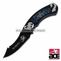 "8"" Cobalt Scorpion Folding Knife"