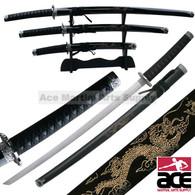 3 pieces Engraved Dragon Sword Set
