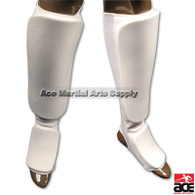 "Durable elastic cloth shin and foot padding. 1/2"" padding with comfortable contouring fit."