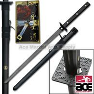 All Black Ninja Style Full Tang Sword