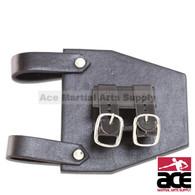 Black Leather Strap / Frog For Broad Swords