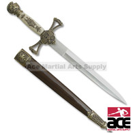 14 Inch Medieval Sword WIth Knight Pommel.