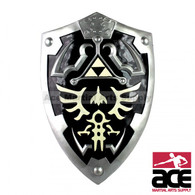 "Full SIze Dark Link's Hylian Shield from the Legend of Zelda 25"" x 19"""