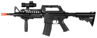 NEW M4 A1 M16 RIS SPRING AIRSOFT RIFLE SNIPER GUN w/ FLASHLIGHT SCOPE STOCK BB