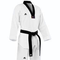 Adidas Club Taekwondo Uniform, Black Lapel
