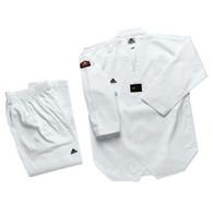 Adidas Club Taekwondo Uniform, White Lapel