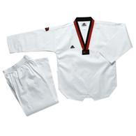 Adidas Club Taekwondo Uniform, Red & Black Lapel
