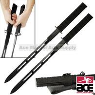 Twin Ninja Fighting Swords Black